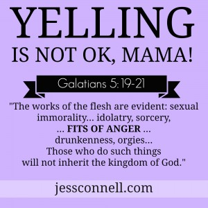 yelling is NOT OK