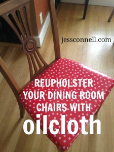 Oilcloth Dining Chair Tutorial // JessConnell.com
