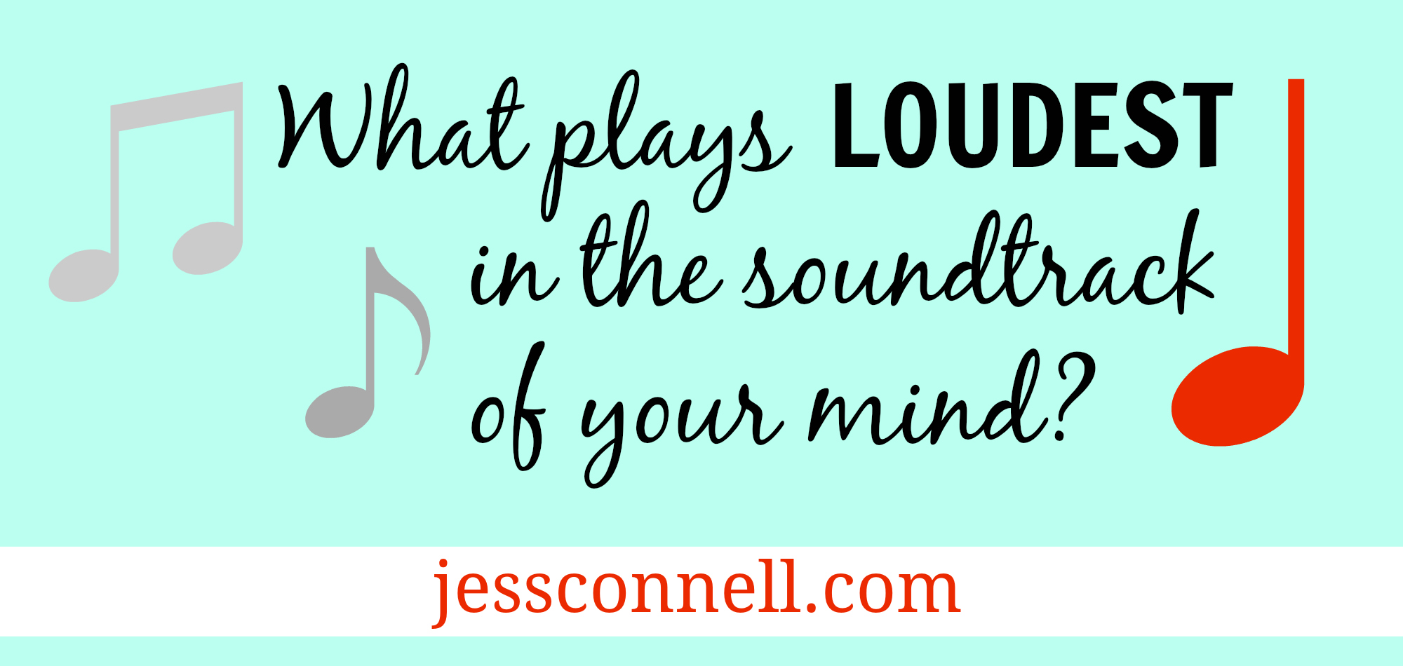 What plays LOUDEST in the soundtrack of your mind?