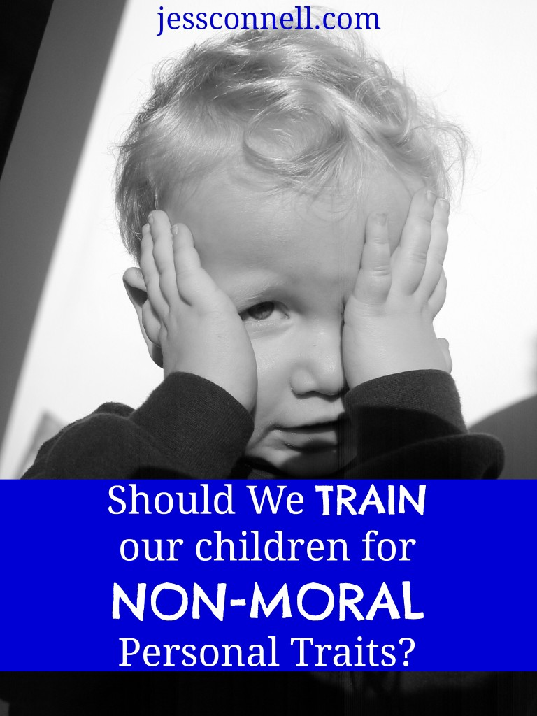 Should We Train Our Children for Non-Moral Personal Traits? // jessconnell.com