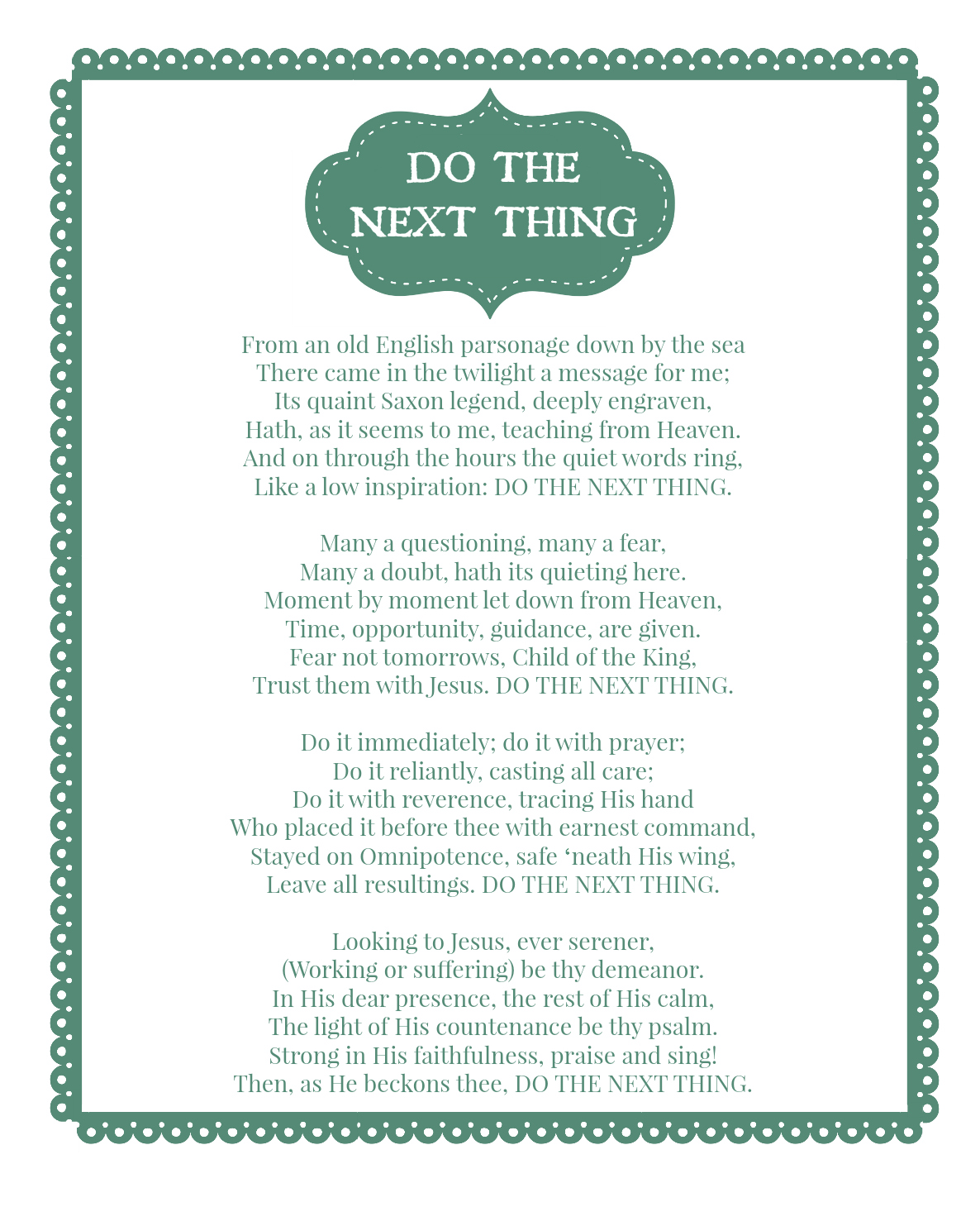 Do The Next Thing Printable