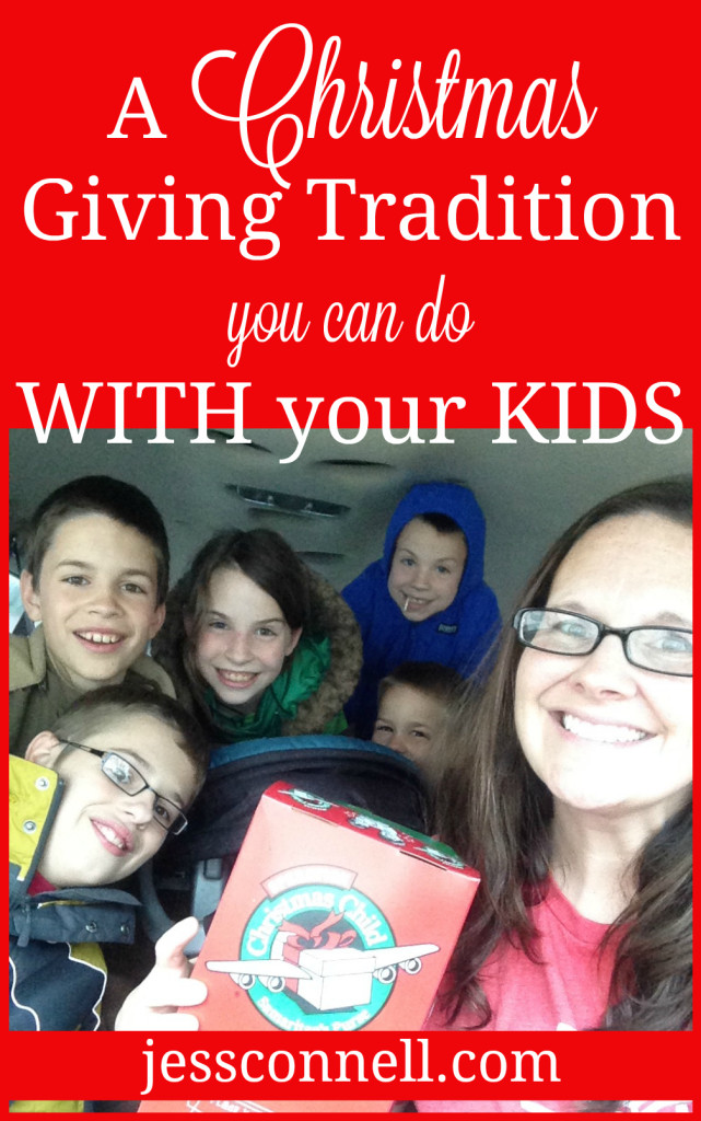 A Christmas Giving Tradition You Can Do WITH Your Kids // #ipackedashoebox // jessconnell.com