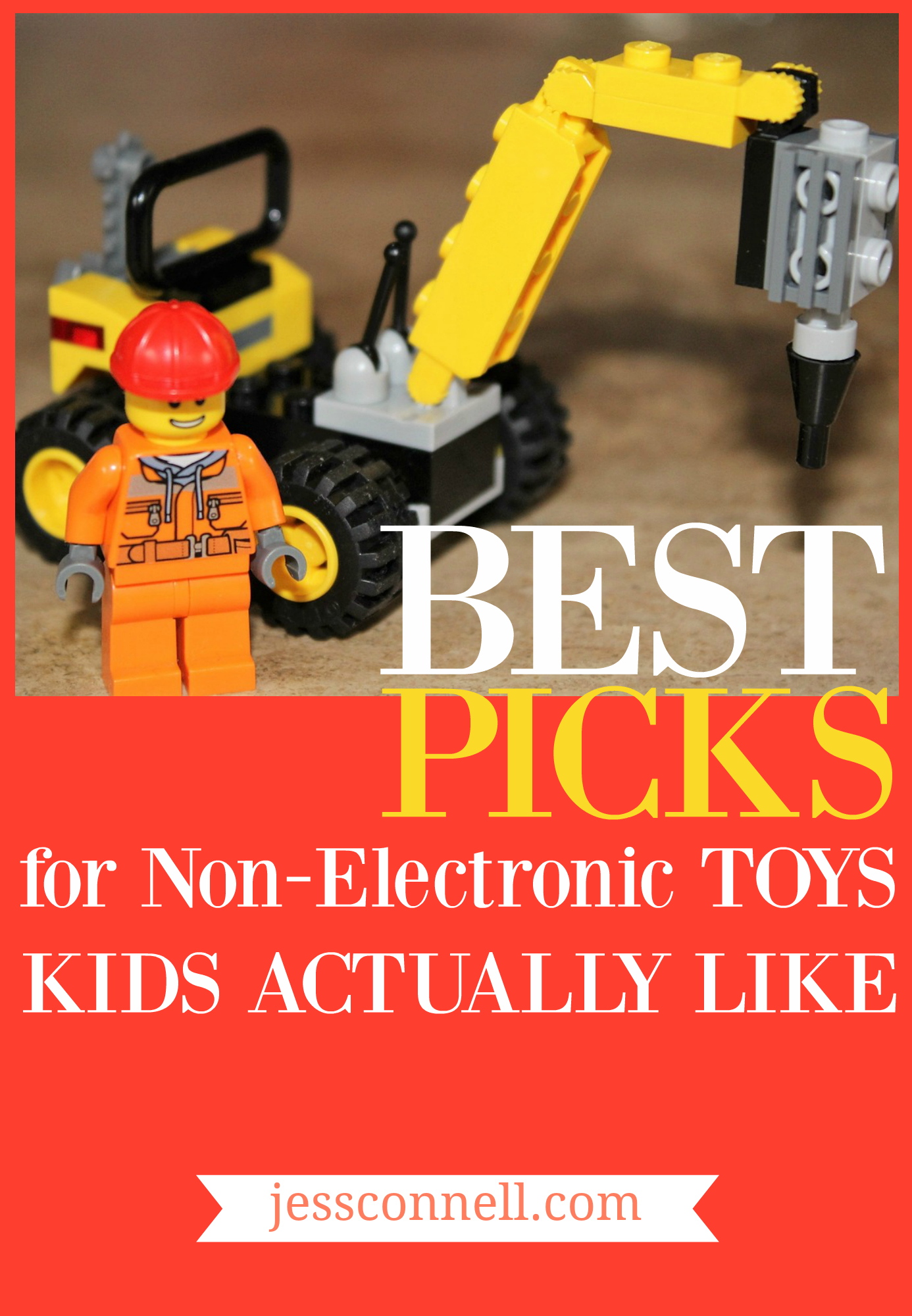 Best Picks for Non-Electronic Toys KIDS ACTUALLY LIKE // (plus WHY YOUR KID might not like these & what you can do about it) // jessconnell.com