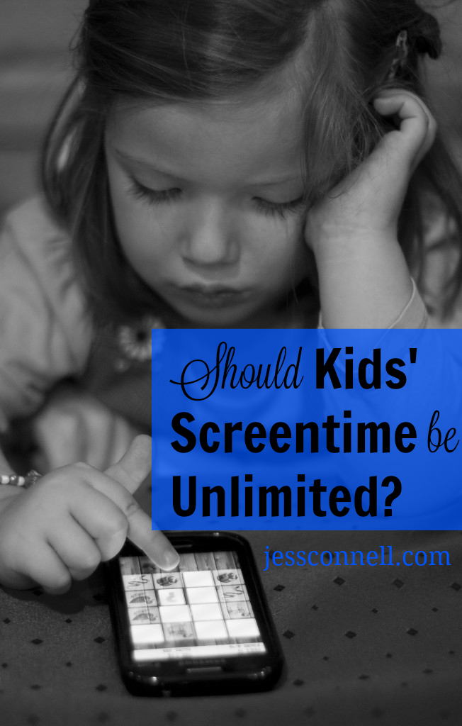 Should Kids' Screentime Be Unlimited? // jessconnell.com