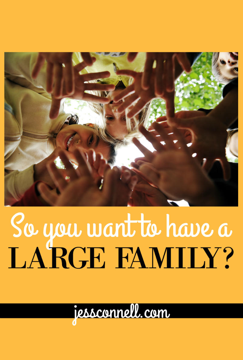 So You Want to Have a LARGE FAMILY? // jessconnell.com