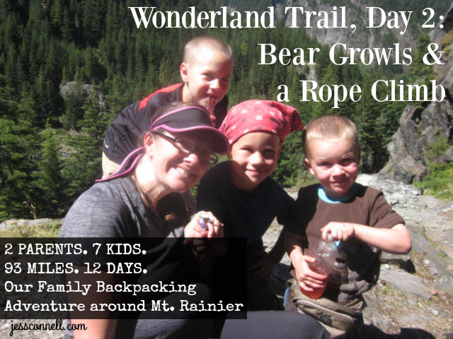Wonderland Trail, Day 2: Bear Growls & a Rope Climb // jessconnell.com