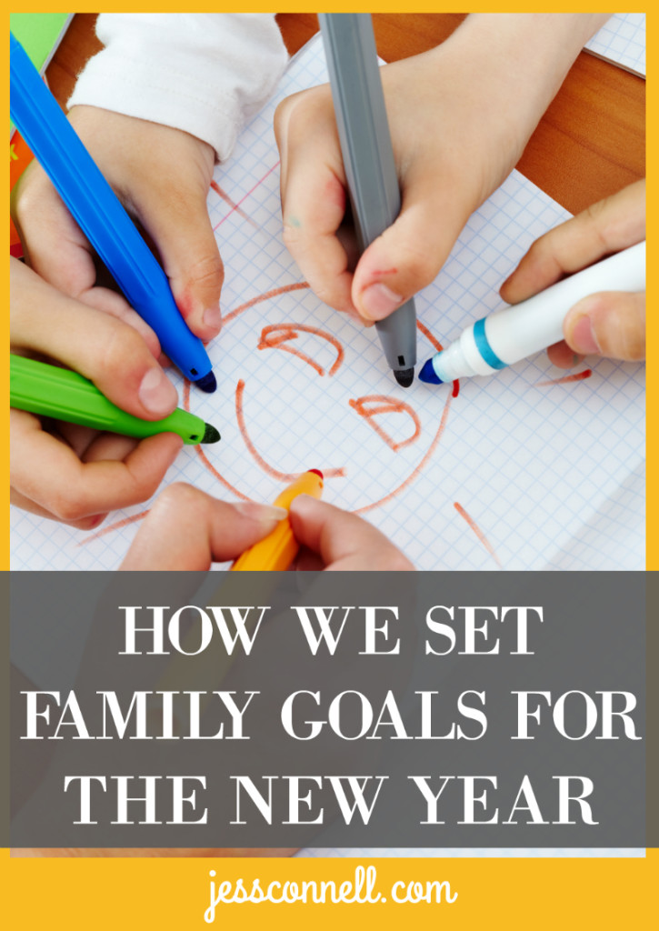 How We Set Family Goals for the New Year // jessconnell.com